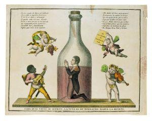 Pepe Botella, caricatura.