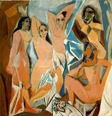 """""""Las Señoritas de Avignon"""", Picasso (1907)"""