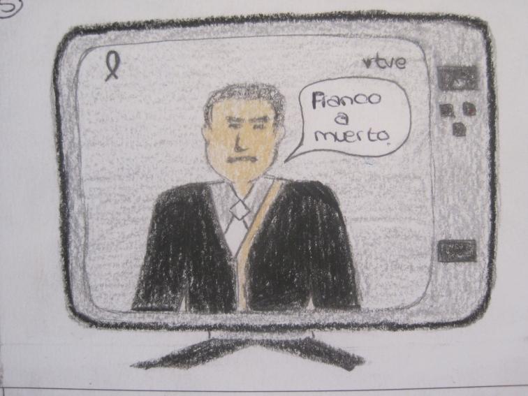 Arias Navarro anuncia la muerte de Franco